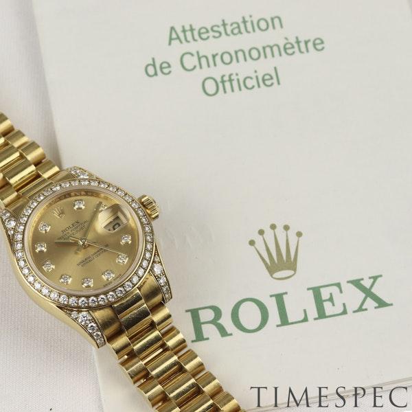 Rolex Lady Datejust, 26mm, 179158, 18K Yellow Gold Diamond Papers & Box - image 3