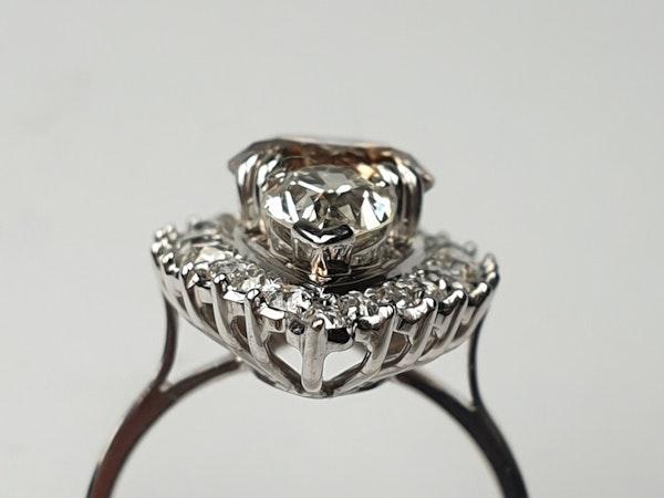 2.60ct cognac diamond and pair shaped diamond navette ring  DBGEMS - image 3