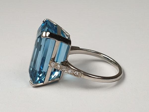 Aquamarine Dress Ring - image 4
