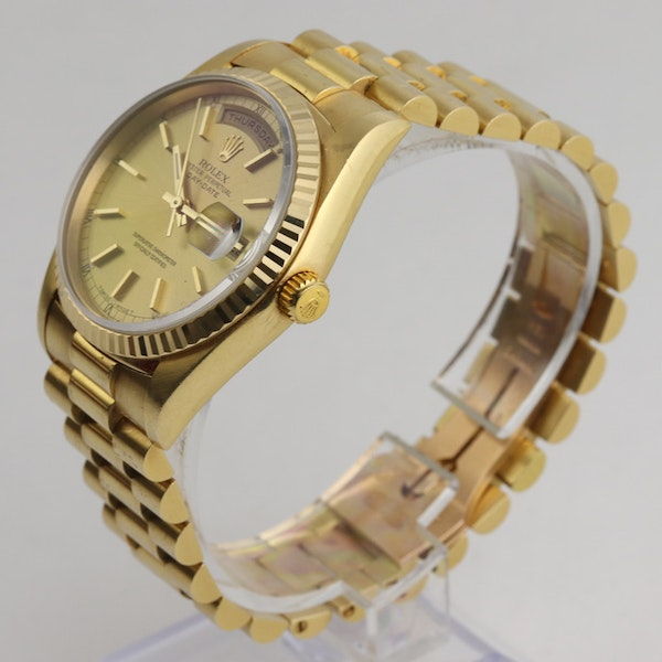 Rolex Day-Date,36mm, President, 18238, 18K Yellow Gold & Rolex Box - image 3