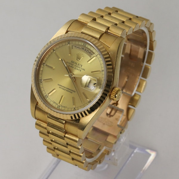 Rolex Day-Date,36mm, President, 18238, 18K Yellow Gold & Rolex Box - image 2