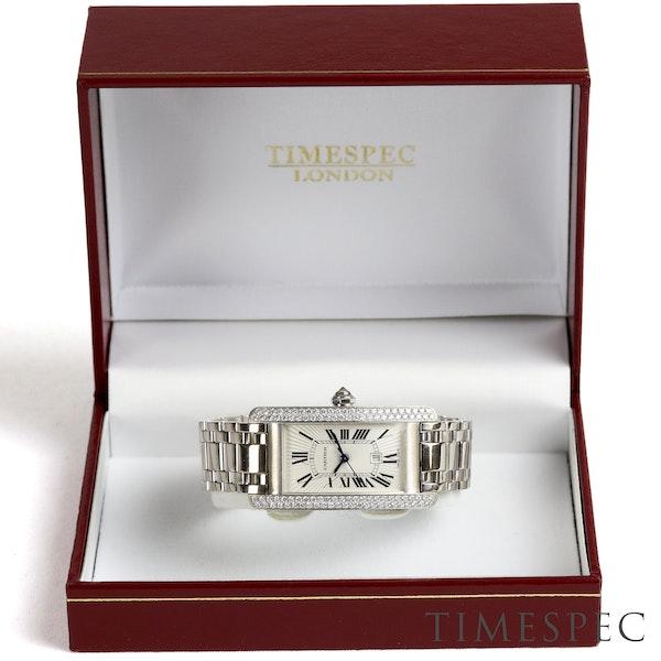 Cartier Tank Américaine Midsize, 18K White Gold Automatic - image 4