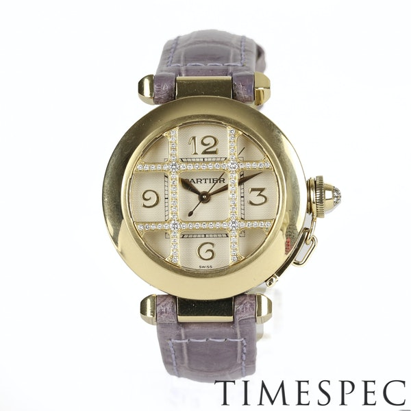 Cartier Pasha 18k Yellow Gold Ladies Diamond 32mm Automatic - image 3
