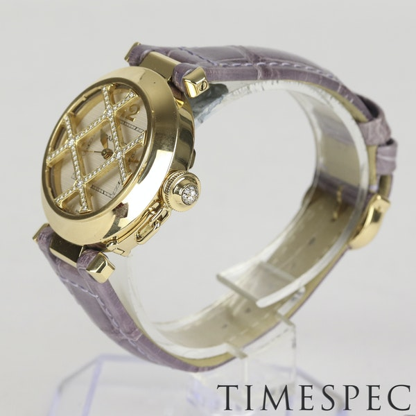 Cartier Pasha 18k Yellow Gold Ladies Diamond 32mm Automatic - image 5