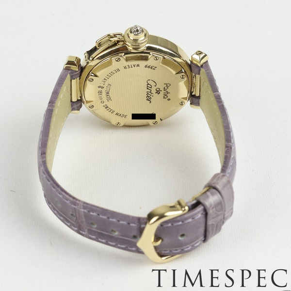 Cartier Pasha 18k Yellow Gold Ladies Diamond 32mm Automatic - image 7