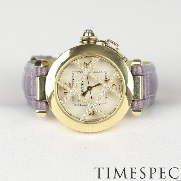 Cartier Pasha 18k Yellow Gold Ladies Diamond 32mm Automatic - image 6