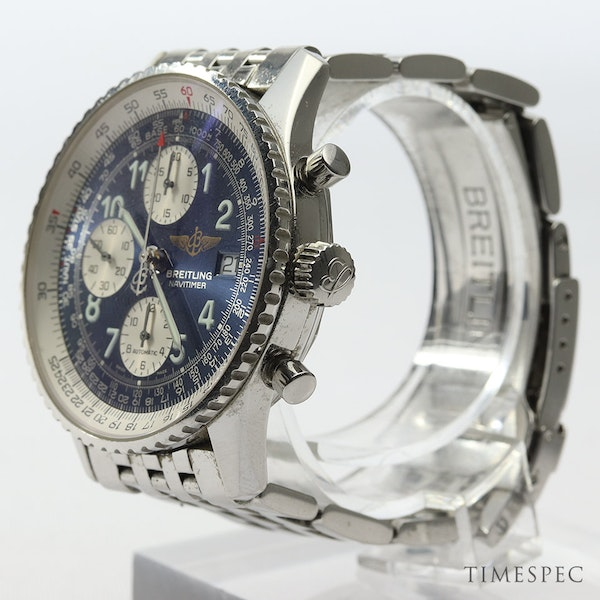 Breitling Old Navitimer Blue Dial With Papers - image 5