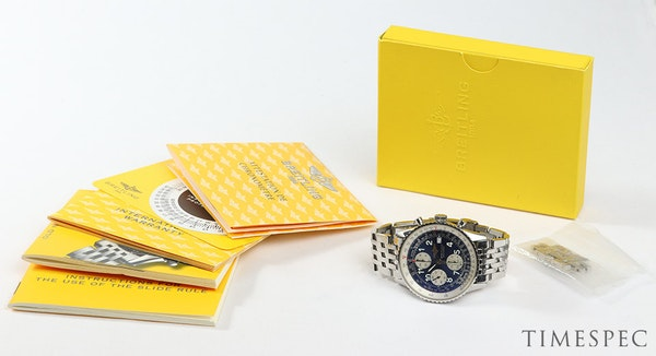 Breitling Old Navitimer Blue Dial With Papers - image 9