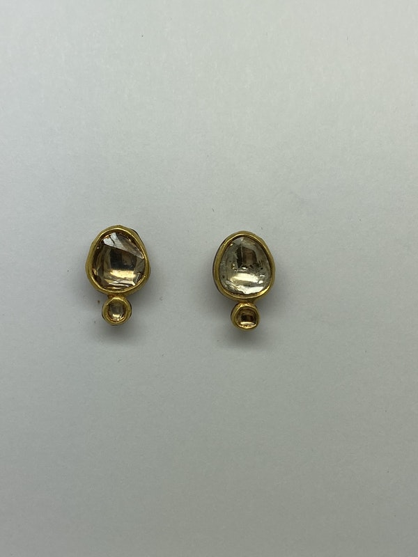 Diamond and Gold Earrings - image 2