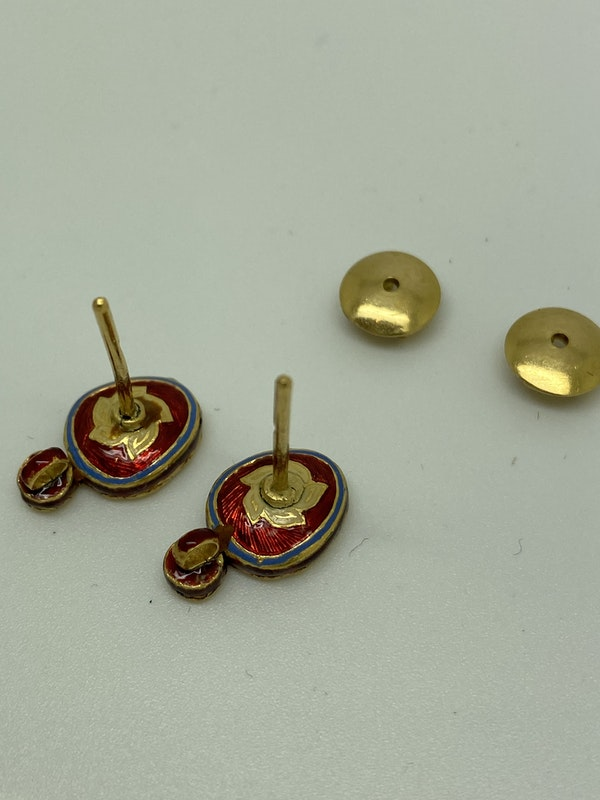 Diamond and Gold Earrings - image 3