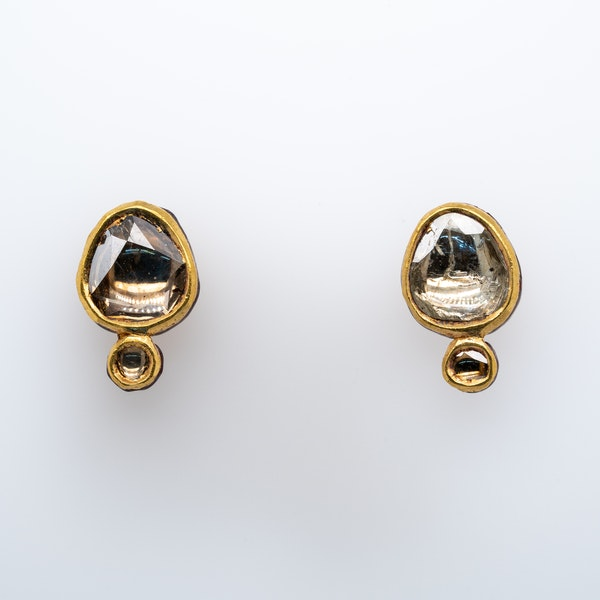 Diamond and Gold Earrings - image 4