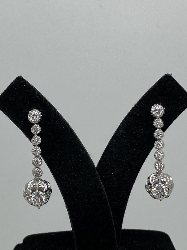 18K white gold 1.20ct Diamond Earrings - image 3