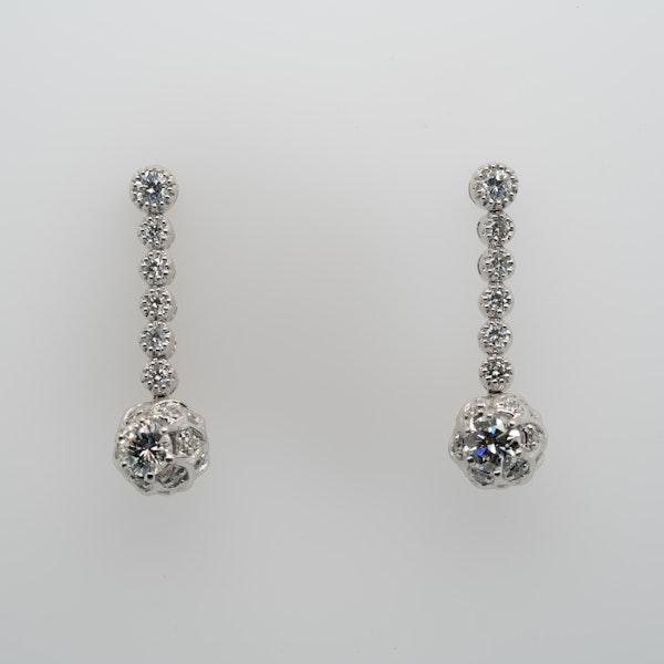 18K white gold 1.20ct Diamond Earrings - image 5