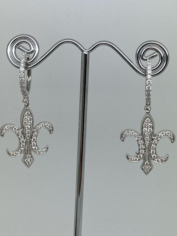 18K white gold Diamond Earrings - image 3