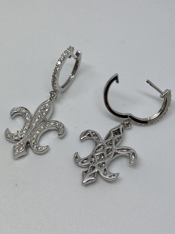 18K white gold Diamond Earrings - image 5