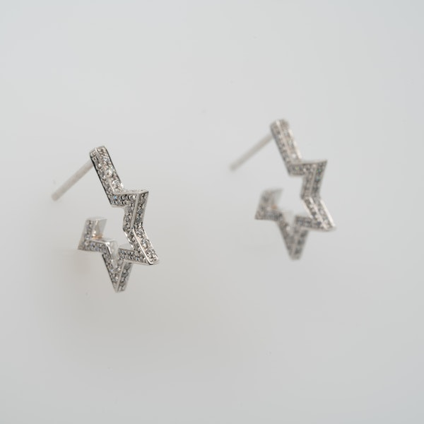 18K white gold 0.50ct Diamond Earrings - image 8