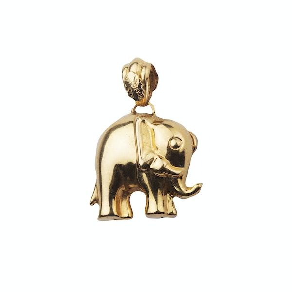 Gold Elephant Pendant - image 2