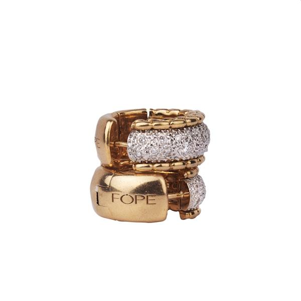 Gold Diamond Earrings - image 3