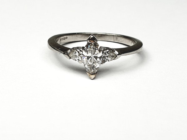 Marquise and pear shaped diamond engagement ring  DBGEMS - image 3