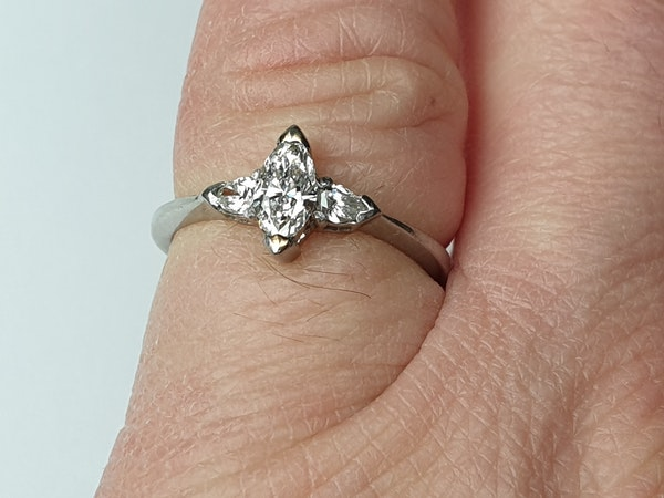 Marquise and pear shaped diamond engagement ring  DBGEMS - image 2