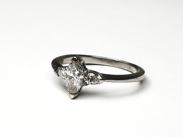 Marquise and pear shaped diamond engagement ring  DBGEMS - image 5