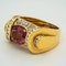 Pink tourmaline and diamonds fancy cocktail ring - image 4
