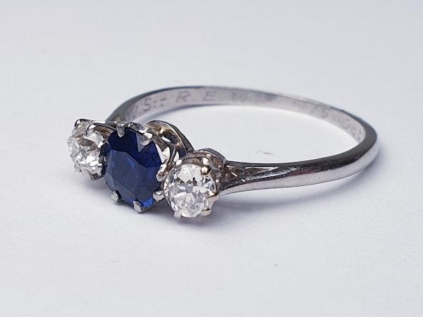 Sapphire and diamond engagement ring  DBGEMS - image 2