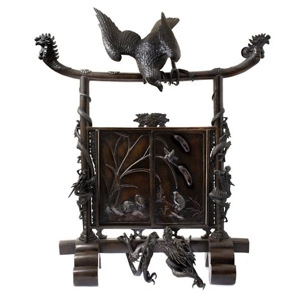 Japanese bronze screen - image 1