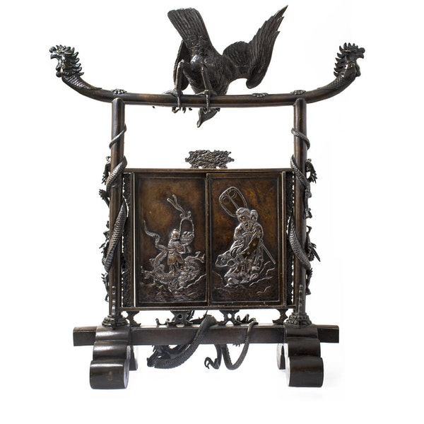 Japanese bronze screen - image 4