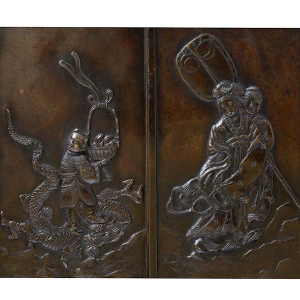 Japanese bronze screen - image 8