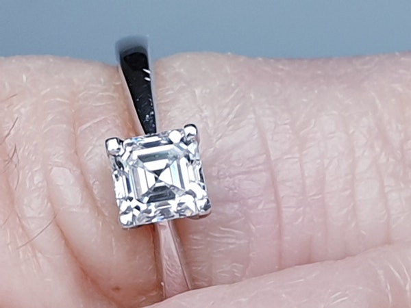 Asscher Cut Diamond Solitaire Diamond Engagement Ring  DBGEMS - image 2