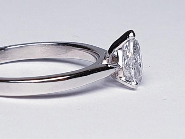 Pear shaped diamond engagement ring 4682  DBGEMS - image 2