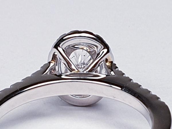 Oval diamond engagement ring  DBGEMS - image 3