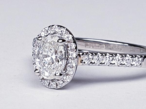 Oval diamond engagement ring  DBGEMS - image 5