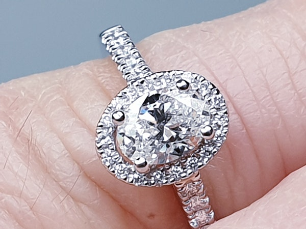 Oval diamond engagement ring  DBGEMS - image 2