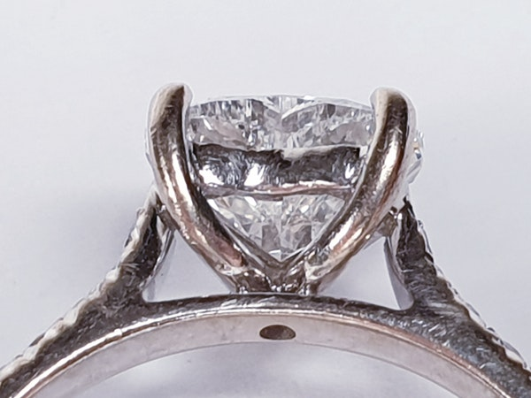 Heart shape F colour Flawless diamond engagement ring  DBGEMS - image 4
