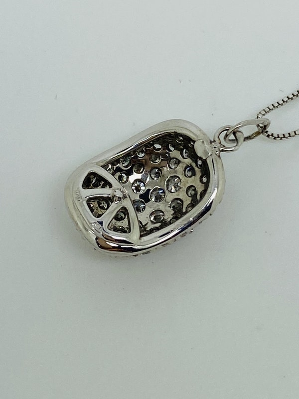 18K white gold Diamond Pendant - image 3