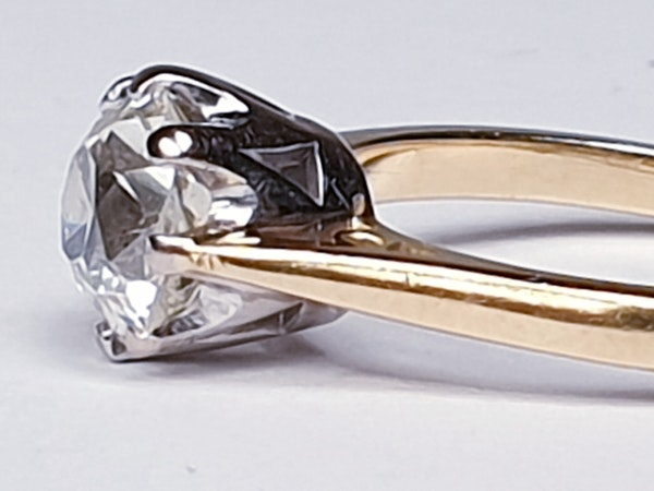 1.56cts Cushion Cut Diamond Engagement Ring  DBGEMS - image 4