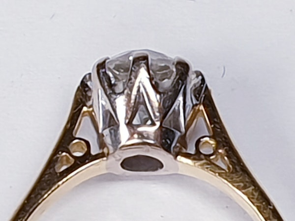 1.56cts Cushion Cut Diamond Engagement Ring  DBGEMS - image 3