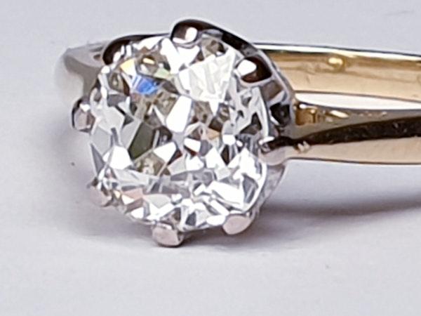 1.56cts Cushion Cut Diamond Engagement Ring  DBGEMS - image 5
