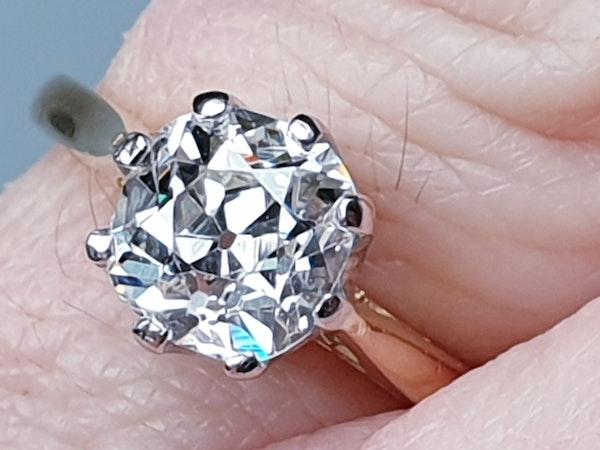 1.56cts Cushion Cut Diamond Engagement Ring  DBGEMS - image 2
