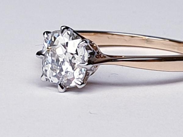 Solitaire cushion cut diamond ring - image 5