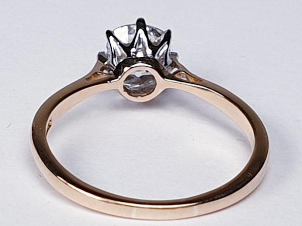 Solitaire cushion cut diamond ring - image 2