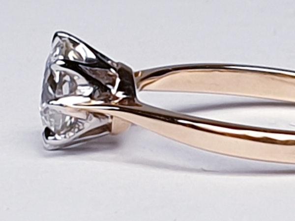 Solitaire cushion cut diamond ring - image 3