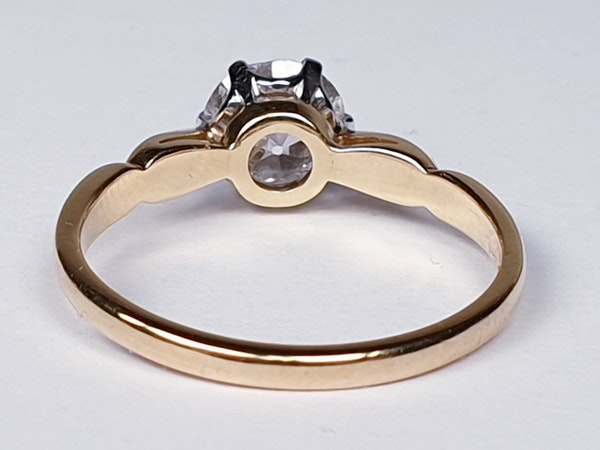 1.35ct old European transitional cut diamond engagement ring  DBGEMS - image 4