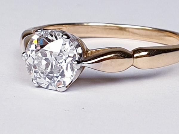 1.35ct old European transitional cut diamond engagement ring  DBGEMS - image 6