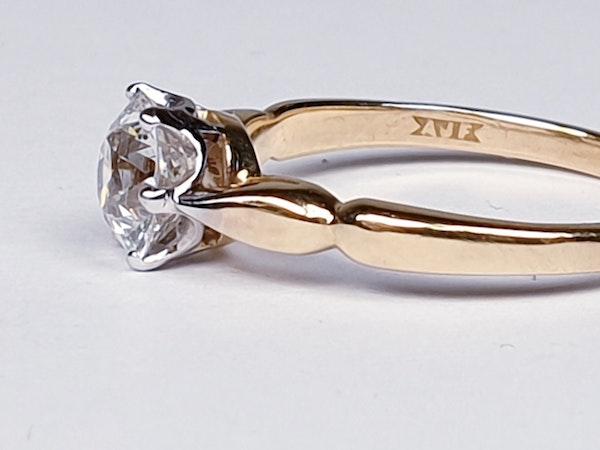 1.35ct old European transitional cut diamond engagement ring  DBGEMS - image 5