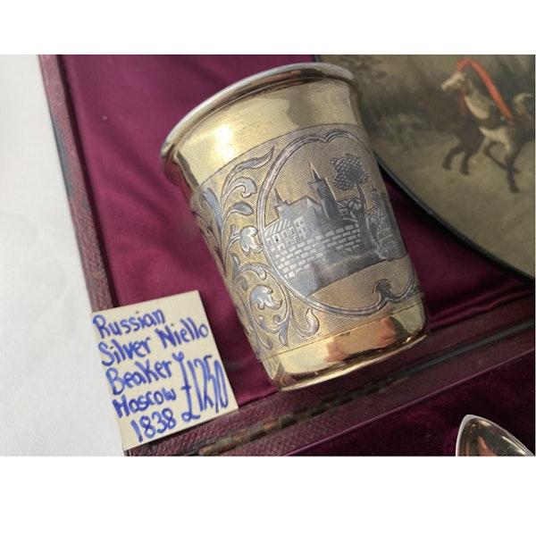 Moscow 1838, Russian Silver Niello Beaker, SHAPIRO & Co - image 9