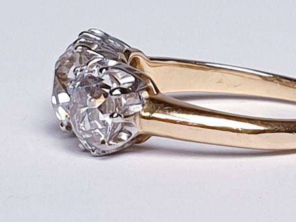 Antique diamond trilogy engagement ring  DBGEMS - image 6