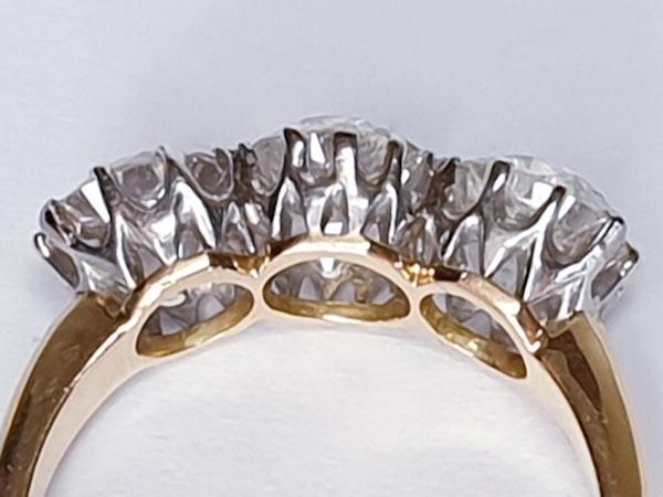 Antique diamond trilogy engagement ring  DBGEMS - image 4
